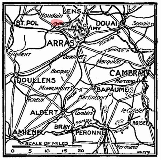 Vimy Ridge Carency Arras Map