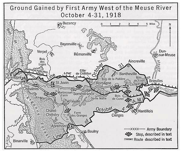 Oct 1918 Ground Gained map