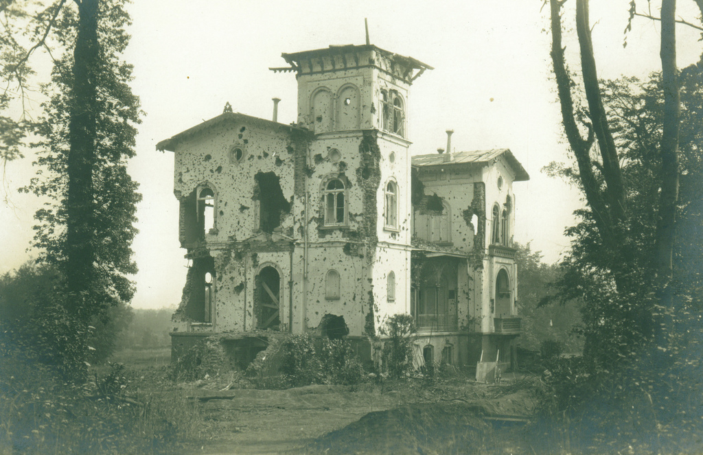 The Chateau before it was completely destroyed in 1917