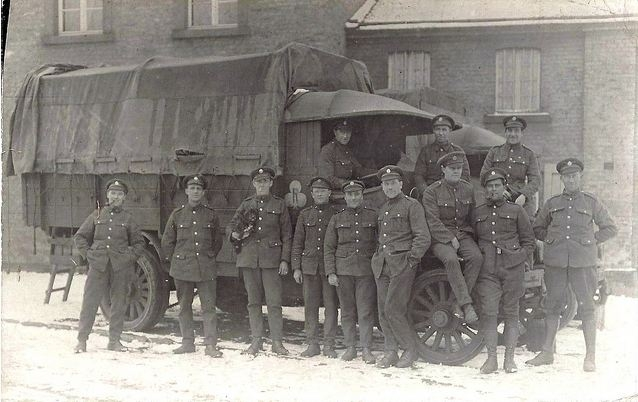 asc driver and soldiers in winter time