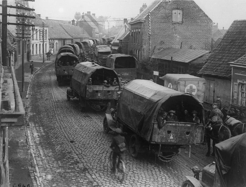 ASC transporting men WW1