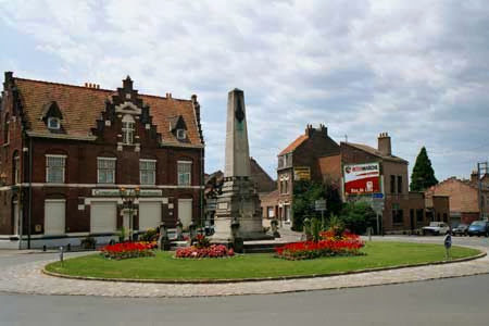 Memorial to 25th Division in Bailleul,