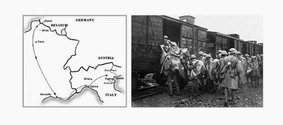Nov 1917 travel to Italy