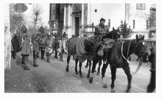 Troops arriving Italy 1917
